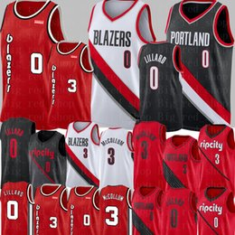 damian lillard Desconto NCAA Damian Lillard 0 Jersey CJ 3 McCollum Jersey 2020 Universidade Nova Basketball Jerseys bordado Logos Vermelho Branco Preto