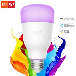 Luce notturna mobile online-Xiaomi Yeelight Smart LED Lampadina RGB Colorata E27 10W 800 Lumen Smart Light Lampada da notte Mijia Mobile APP Telecomando