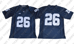 Cheap custom 2018 Draft No.2 Saquon Barkley 26 College Football Jersey -  Blue Stitched Customize any number name MEN WOMEN YOUTH XS-5XL df87f2b30