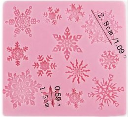 fondant snowflakes Coupons - 3D Baking Chocolate Cake Mold Moulds Silicone Snowflake Star Lace Party DIY Fondant Cooking Decorating tools