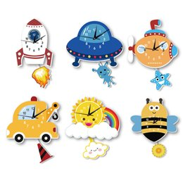 Маятниковые часы онлайн-Симпатичные Настенные Часы Спальня Гостиная Мультфильм Декоративные Настенные Маятниковые Часы Настенные Часы Детская Комната Украшения
