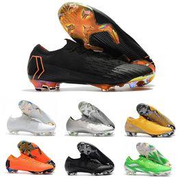 2019 botas de futebol cr7 preto branco Mercurial Superfly CR7 Sapatos de Futebol Dos Homens Formadores Preto Branco Ronaldo Neymar Crampons Meninos 20 Botas de Futebol Chuteiras Designer Men Sneaker botas de futebol cr7 preto branco barato