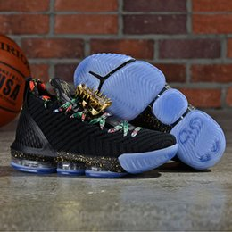 1fa3fe1cf3f black lebron shoes Promo Codes - New lebron 16 Watch The Throne Men  Basketball Shoes for