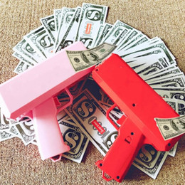 Brinquedos engraçados para crianças on-line-Dinheiro dinheiro arma brinquedo faça chover dinheiro cuspir notas arma brinquedos para crianças presente de natal festa brinquedos engraçados