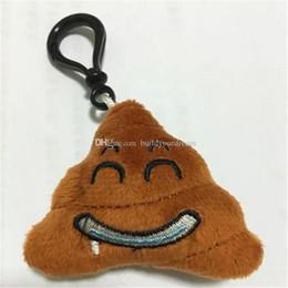 Emoji Poo giocattoli di peluche portachiavi con anello in metallo accessori borsa a tracolla mobile QQ cacca animali di peluche portachiavi 5.5 * 5.5 cm da moda jeans bambino fornitori
