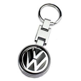 2020 abzeichen schlüsselhalter 3D-Metall-Auto-Logo-Schlüsselring Emblem-Abzeichen-Halter FOB-Ring-Schlüssel-Doppelt-Seiten-Logo für VW High Quality rabatt abzeichen schlüsselhalter