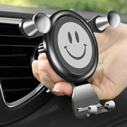 2019 gravitationsrahmen Fahrzeug Air Frame Lächeln Halter Navigation Halter Mobil Steckdose Gravity Navigation Gesicht Auto-Telefon günstig gravitationsrahmen