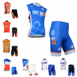 La fabrica vende ropa online-Euskaltel Fdj Team Ciclismo sin mangas Jersey Chaleco Conjuntos Cortos Venta de Fábrica Nuevo Kit Conjunto de Ropa Envío Gratis U31157
