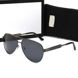 Copos de noite dos pilotos on-line-Óculos de Sol de Luxo dos homens dos homens Visão Noturna de Condução Óculos De Sol Da Moda Óculos De Sol 0134 Top Marca de Luxo Pilotos Fios Óculos Polarizados de Metal