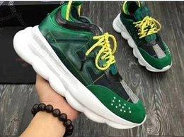 2019 sapatos de couro para homens New Men mulheres Luxo Couro Designers Sneaker 2 Chainz alta qualidade Corrente preta RIAÇÃO calçados casuais Moda Marca Venda Grosso Soled 29 sapatos de couro para homens barato