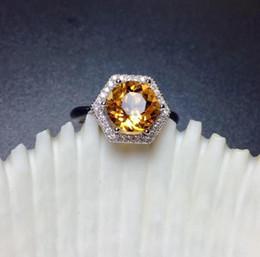 2020 tamaño de anillo de plata 4.25 envío gratuito de citrino anillo anillo citrino natural de la gema 925 * 8 mm joya fina joyería de cristal de color amarillo plata talla 8 rebajas tamaño de anillo de plata 4.25