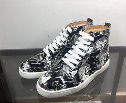 2019 Top Marchi di qualità FUN PELLICCIA scarpe firmate sneaker regalo mens del cuoio genuino delle donne Racer Hot mette in mostra i caricamenti del sistema casuali cheap mens casual boots sale da vendita casual stivali uomo fornitori