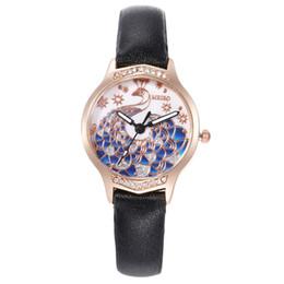 2019 relógios a quartzo Aplova moda pavão dial relógio de quartzo multicolor facetada diamante de couro de luxo dress relógios de pulso para senhoras meninas reloj relógios a quartzo barato