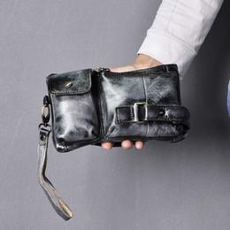 caja del teléfono para bb Rebajas La nueva venta caliente hombres de cuero original recorrido de la manera correa de cintura de Fanny pechera bolso de la honda del bolso de embrague Diseño caja del teléfono Masculino 8135-bb