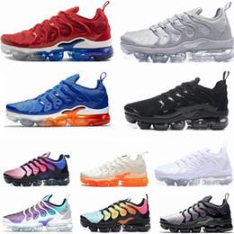 Paquete de vapor online-2019 Nuevos Diseñadores de Vapores TN Plus Olive White Silver Shoes Men Shoes For Male Shoe Maxes Pack Triple Black Casual Shoes 36-45