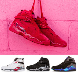 12754983807 2019 Drop shipping Valentine's Day Red 8 VII 8s men Basketball Shoes Aqua  Chrome COUNTDOWN PACK mens outdoor Sports Sneakers 8-13 aqua 8s for sale