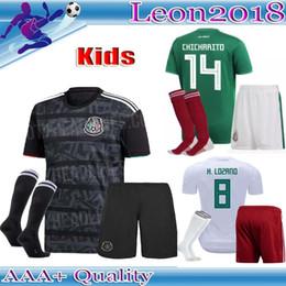 d60b6d009d2 Kids kits 2019 Mexico Soccer Jersey Away black 19 20 CHICHARITO H. LOZANO  youth child football jerseys shirts