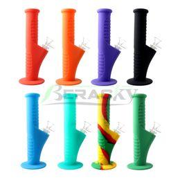 2019 14mm quarzglasschale Beracky 9 Zoll Silikon Wasserpfeifen mit 14mm Glasschale unten 18mm Silikonspitzen für Quarz Banger Nails Glaspfeifen günstig 14mm quarzglasschale