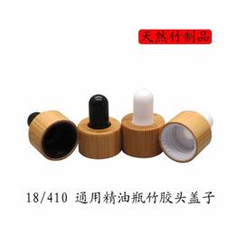 18/410 300pcs / lot compte-gouttes en bambou blanc / noir Couverture en bambou couvre-tête compte-gouttes bouchon à bouteille d'huile essentielle ? partir de fabricateur