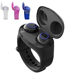 Bluetooth-гарнитура для телефонов с часами онлайн-HM50 TWS Смарт часы с водонепроницаемым Bluetooth 5.0 наушниками Долгого времени ожидания Спорт Фитнес Tracker Часы Мужчина беспроводной гарнитурой для всех телефонов