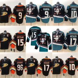 Paul kariya jersey онлайн-Хоккейные Майки 2019 Anaheim Ducks 15 Ryan Getzlaf 9 Paul Kariya 8 Teemu Selanne 10 Corey Perry 17 Ryan Kesler Сшитые Джерси