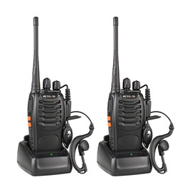 émetteur de talkie-walkie Promotion 2pcs Reevis H777 Walkie Talkie Landie 2-Way Radio USB avec écouteur Walkie Walkie Talkie Talkie Dispositif Transmetteur radio