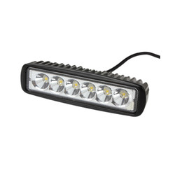 Barra chiara 4wd condotto online-Automobili New Car-styling Truck 18W 6 SMD Led Light Light Bar Reverseing Flood Lampada da lavoro inondazione per Jeep Boat 4WD 12V