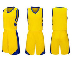 2019 camisa de basquete conjunto homens Atacado Personalizado KID MEN treinamento de Basquete Conjuntos Com Shorts jersey personalizado, Uniformes de Basquete kits MEN Sports roupas fatos de treino desconto camisa de basquete conjunto homens