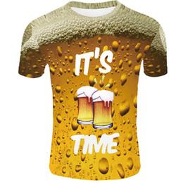 Лето Мужчины Женщины футболка 3d футболка бренда о-образным вырезом часы футболка пиво футболка с короткими рукавами 3d Streatwear Homme большой размер 4XL от