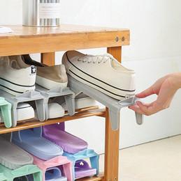 2019 einstellbare schuhaufbewahrung Einstellbare Schuhe Lagerregal Closet Space Saver Schuhhalter Stehen Schuhe Organizer Wohnzimmer Praktische Stehen rabatt einstellbare schuhaufbewahrung