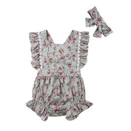 2019 abito di famiglia alikes madre figlia Toddler Kids Baby Girl Sister Corrispondenza floreale tuta Pagliaccetto abiti completi