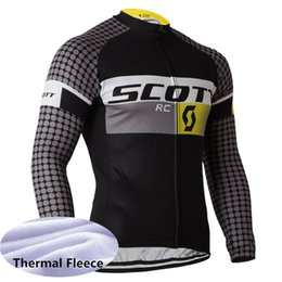 2b65be692 Hot Sale 2019 scott cycling jersey Racing bicycle tops winter long sleeve Thermal  Fleece men cycling clothing Ropa Ciclismo Y012306