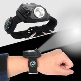 2019 armbanduhr nachtlicht Im freien Camp LED Wrist Light Nachtfischen Laufen Fahrrad Reiten Taschenlampen Multi Funktion Mode Kreative Uhr Lampen Heißer Verkauf 36gtI1 günstig armbanduhr nachtlicht