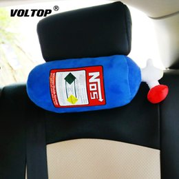 car nos Promo Codes - NOS Car Seat Headrest Neck Pillow Cushion Car Accessories for Girls Memory Foam Pillow Cartoon Simulation Fire Extinguisher