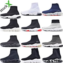 sapatos originais para mulheres  Desconto Hott de venda original de 2020 Mulheres Homens Sock sapatos de caminhada Black Red White Speed ​​Trainer Sports Sneakers Top Botas homens sapato casual 36-45