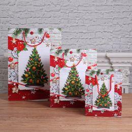 Vêtements en zigzag en Ligne-Sac de cadeau de Noël grand vin paquet 2019 nouveau style de vêtements sac en papier fourre-tout arbre de Noël des animaux