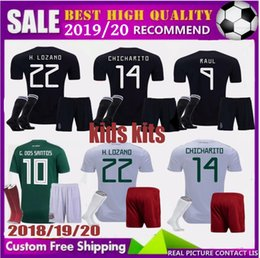 1f2fd4149 2019 GOLD CUP Mexico BOYS soccer Jersey kids home world cup 2018 CHICHARITO  G.DOS SANTOS R.MARQUEZ football Shirts 2020 child KITS