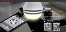 Iphone 5c smart online-MIPOW PLAYBULB Smart LED Blaulicht Drahtloser Bluetooth Lautsprecher 110V - 240V E27 3W Audio Lampe für iPhone 5S 5C 5 iPad air