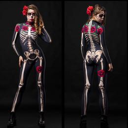 uniformi di Halloween in Europa e lo scheletro del terrore negli Stati Uniti sono aumentate di abbigliamento fantasma scheletro vestiti cosplay siamesi da collant nero floreale pizzo fornitori