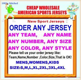 Argentina All Stitched Custom camisetas de fútbol americano Tennessee Denver College Autentico Barato Béisbol de baloncesto Camiseta de hockey 4xl 6xl 7xl grande Suministro