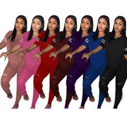 Mujeres Carta Trajes Chándal Amor Tops Pullover camiseta + Pantalones Jogging al aire libre Mujer Ropa para el hogar ropa deportiva 3XL HH7-1123 desde fabricantes