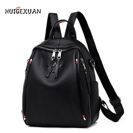 party bag backpacks 2019 - New Women Backpack Genuine Leather Fashion  Causal Bags High Quality Cowskin c173977281422