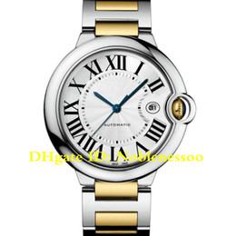 Часы онлайн-12 цвет в оригинальный футляр классические автоматические часы роскошные мужские 42 мм из нержавеющей стали и 18 карат желтого золота Ref W2BB0022 W69016z4 мужские часы
