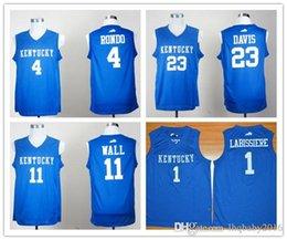 047d1a7b999a Cheap Mens Kentucky Wildcats 23 Anthony Davis 1 Skal Labissiere 4 Rajon  Rondo 11 John Wall College Basketball Jersey