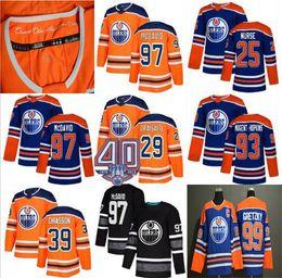 Argentina 2019 Hombres Mujeres Jóvenes Parche 40 Edmonton Oilers Jerseys Barato Connor McDavid Wayne Gretzky Milán Lucic Leon Draisaitl Ryan Nugent-Hopkins cheap youth hockey jersey cheap Suministro