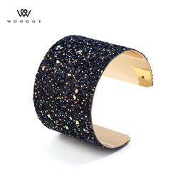 Große armband armbänder gold online-2018 modeschmuck neue multi farbe öffnen große metallarmbänder armreifen femme pulseiras charme manschette gold große armbänder für frauen