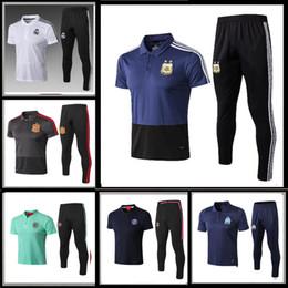 2019 polo sport blue 2018 World Cup Polo Argentina Polo Blue Soccer Jersey 2018 Argentina white Soccer Polo Uniformes de fútbol Camiseta deportiva En oferta polo sport blue baratos