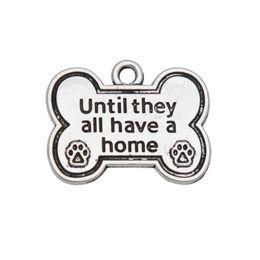 2019 cão atacado charms atacado Atacado Alloy Dog Bone forma encantos até que todos eles têm uma casa cão Paw Print encantos 20 * 25 mm 50 pcs AAC974 cão atacado charms atacado barato