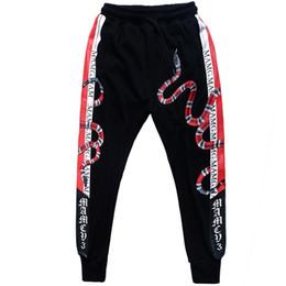 Justin bieber moda calças on-line-Mens Corredores Sweatpants 3d Impressão Cobra Animal Moda Fitness Musculação Justin Bieber Streetwear Casuais Calças de Trilha Calças Streetwear