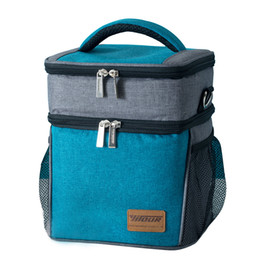 0a9c88a2e1 2019 New Insulated Lunch Bag 900D Oxford Cloth Thermal Bag Large Capacity  Casual Picnic With Ice Pack Aluminum Film